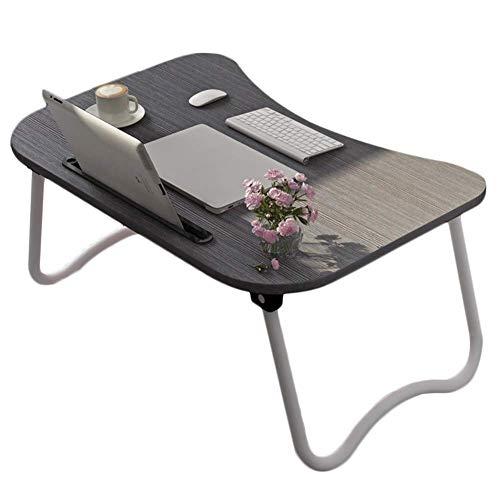 Laptopbed tafel ronde staande tafel voor bed en bank ontbijt bed laptop ronde bureau klap ontbijt serveren koffie dienblad notebook staander leeshouder voor bank vloer kinderen zwart