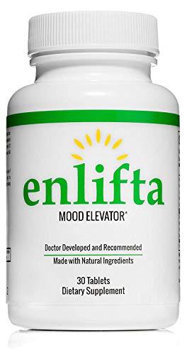 Only Doctor Designed Depression Pill, Enlifta Depression Supplement - Best Natural Antidepressant, 1 Month Supply,30 Tablets.
