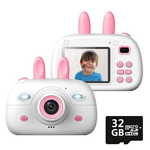 キッズカメラ 子供用 カメラ 1800万画素 トイカメラ 2.4インチ HD1080P 写真 動画 連写 タイマー撮影 耐衝擊 32G容量SDカード付き 日本語説明書付き (ピンク)