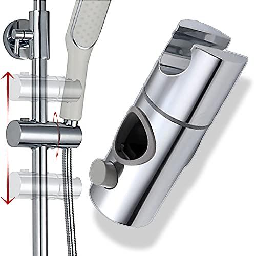 shttown シャワーフック 修理交換用 シャワー ホルダー 簡単取付 高さ調整 角度調整 ステンレス 後付け式 (25mm)
