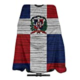 Flag Of Dominican Republic Wooden Texture Hairdresser Hair Stylist Haircut Cover Salon Barbering Cape Shop Accessories Styling Cutting Kit Professional Cloth Women Men Adult