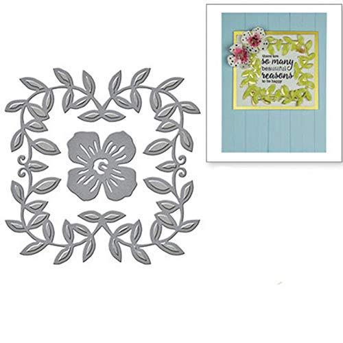 Pixie Stanssjabloon voor knutselwerk, kant, vierkant, slinger, metalen frame, stanssjablonen voor doe-het-zelf scrapbooking muere papieren kaarten bedrukt