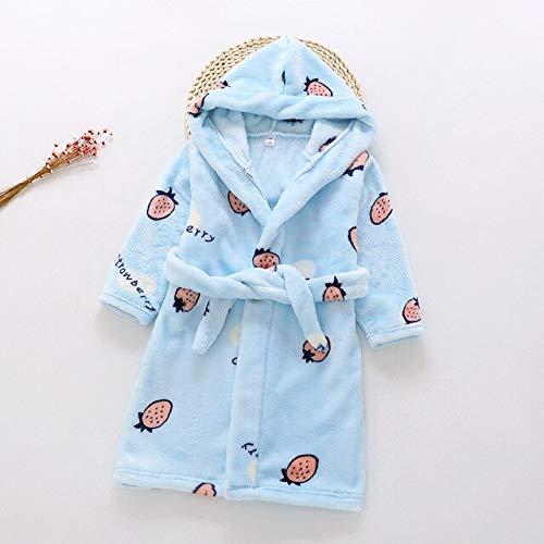 Neuankömmling 18 Farbe Baby Mädchen Winter Flanell Pyjama Kinder Jungen Cartoon Warme Kapuzen Nachtwäsche Kinder Koralle Samt Bademäntel-a41-6