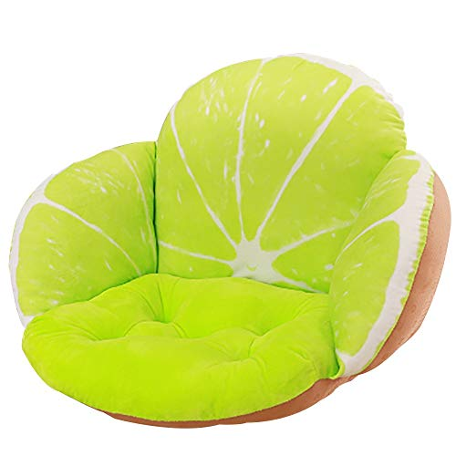 JYSD Amortiguador de Asiento + por Almohada, Oficina de Estudiantes de Gamuza Gruesa Pad Chair, Inicio Piso de los Asientos del cojín, aliviar el Dolor y Confort D6/10 (Color : Color Seven)