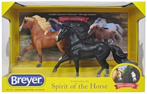 Breyer Gentle Carousel Magic and Hamlet Miniature Therapy Horses by Breyer
