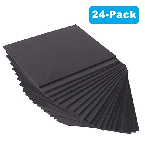"""24 Ct Sheets Black EVA Cosplay Foam in 9"""" x 12'' Sheets; High Density Thick Foam 85 kg/m³, 6mm (1/4""""); Great for Costumes, Props, Armor, Masks, Arts and Crafts Projects"""
