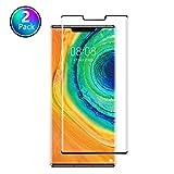 Satacnut [2-Pack] Cristal Templado Huawei Mate 30 Pro, Protector de Pantalla Huawei Mate 30 Pro, [9H Dureza] [Fácil Instalación] [2.5d Borde Redondo] Mate 30 Pro Vidrio...