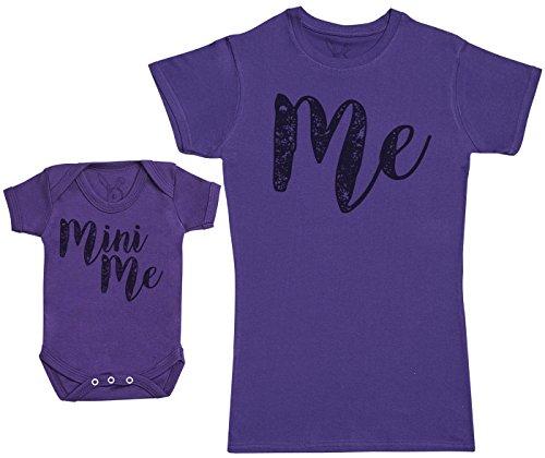 Baby Bunny Me & Mini Me - Regalo para Madres y bebés en un Body para bebés y una Camiseta de Mujer...