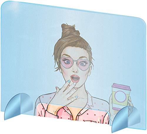 Acryl Trennwände, Qualitäts-Schutz Plexiglas aus Acrylglas - transparentes Plexiglas Schutzwand - Anti-Virus-Schutz 100x50 cm (BxH), 70x65 cm (Size : 100 x 50 cm)