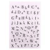 Sello de silicona transparente para hacer tarjetas con letra, sello de scrapbook en relieve álbum decoración artesanía