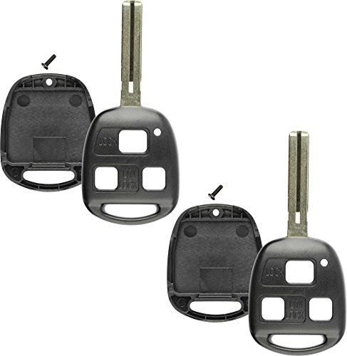 Discount Keyless Replacement Keyless Entry Remote Fob Uncut Blank Key Blade Shell Case For HYQ1512V, HYQ12BBT (2 Pack)