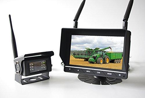 Technikshop24 Funk Rückfahrkamera Set Rückfahrsystem für LKW Wohnmobil und Fahrzeuge mit Anhänger