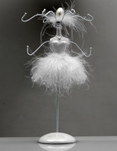 White Classic Ballet Dance Jewellery Hanger Christmas Present Gift By Katz JH-02
