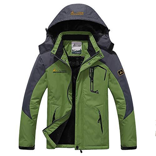 Men's Winter Coats Waterproof Mountain Ski Jacket Warm Snow Jacket Windproof Rain Jacket for Hiking Camping Outwear