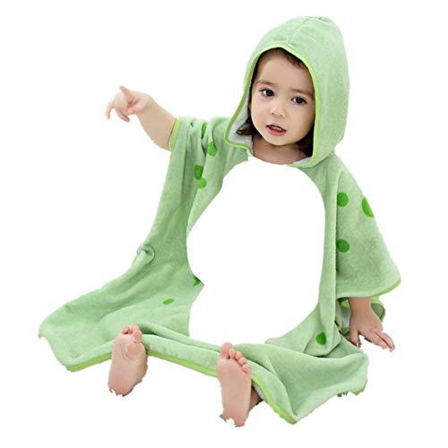 Peignoir À Capuche pour Enfants Nouveau Peignoir en Coton Imprimé Style Cartoon,Green