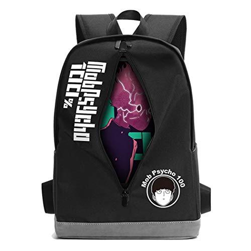 WANHONGYUE Mob Psycho 100 Guckende Charaktere Anime Laptop Backpack Rucksack Schultasche Büchertasche