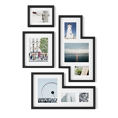 Umbra Mingle Gallery Collage Picture Frame Set, Black