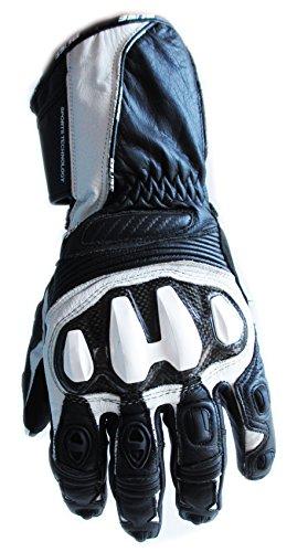 Büse SEPANG Glove Motorradhandschuhe Carbon Leder Handschuhe weiß schwarz Gr.11