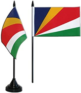 AZ FLAG Drapeau de Table Br/ésil 15x10cm Petit Drapeaux DE Bureau br/ésilien 10 x 15 cm Pointe dor/ée