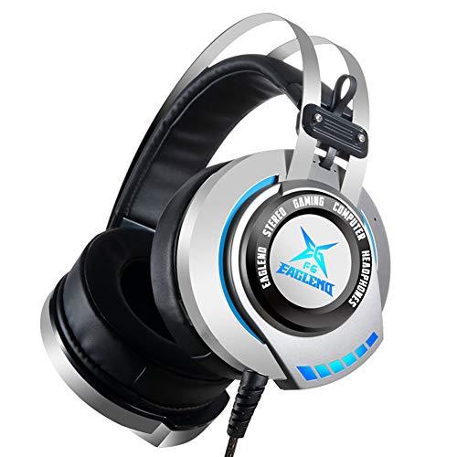 HDJX Casque d'écoute, Casque Filaire de Jeu, adapté à Un Ordinateur Personnel, Un téléphone Intelligent, Confortable et Pratique