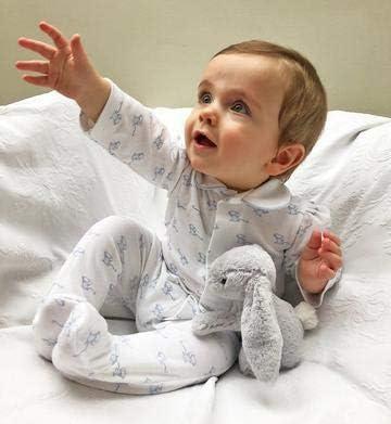 Talla:Newborn // 1 Month sin broches ni botones Magnet Mouse: Pijama de rat/ón m/ágico original azul Azul p/álido mono de algod/ón con cierres magn/éticos