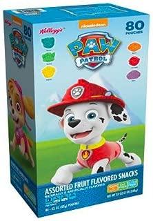 Kellogg's Paw Patrol Assorted Fruit Flavored Snacks, 80 ct