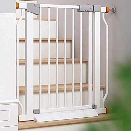 YYF Robuster Türstopper, Zaun für Hunde, Haustier, Käfig, Tür, Zaun, Schutz für den Innenbereich, groß und klein, metall, 118-125cm