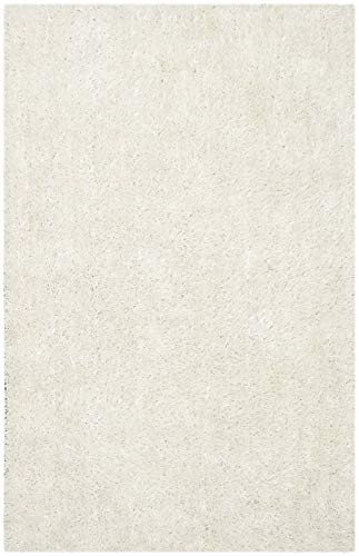 Safavieh SG531-1313 New Orleans Shag Collection - Alfombra de baño, Color Beige y Beige, 3 pies por 5 pies (3 x 5 Pulgadas), Polipropileno, Off White/Off White, 2'6'