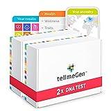 Pack Duo tellmeGen: 2 Test ADN para Test Genético en Pareja. Ancestros + Salud + Rasgos Personales + Wellness - Test de Compatibilidad Genética   +410 Informes Online Actualizados de Por Vida