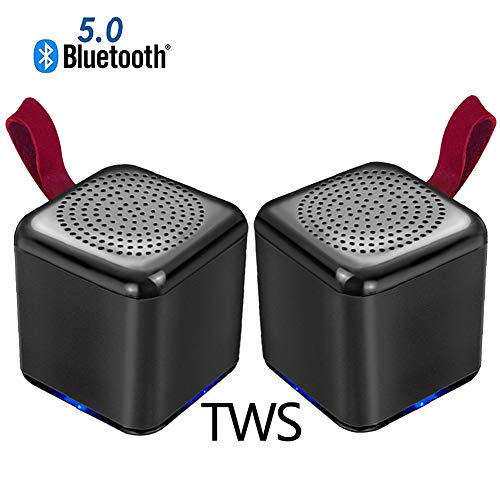 Speaker-EJOYDUTY zakformaat HI-FI TWS Bluetooth luidspreker, draagbare mini true draadloze surround-stereoluidsprekers, voor smartphones, tablets, laptops