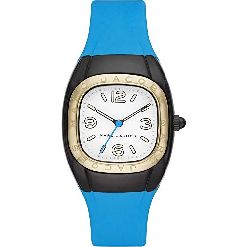 Marc Jacobs - Reloj de Silicona Azul con Tres manecillas para Mujer MJ1649
