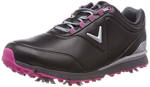 Callaway Damen Lady Mulligan Waterproofs Golfschuhe, Schwarz (Black/Pink Black/Pink), 42 EU