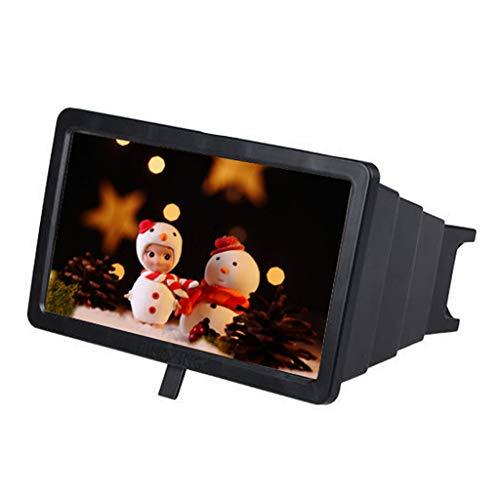 SUMTTER Schermo Amplificatore per Smartphone,8-14 Pollici 3D HD Movie Video Magnifier Screen Amplifier con Supporto Pieghevole Lente di Ingrandimento Schermo per Viaggio Interno Campeggio Regalo