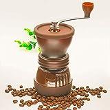 Kaffee-Maschine Handkaffeemühle tragbare verstellbare Verschleißfeste Keramik Bewegung 120g, 9.2 * 16cm (braun) Art und Weise Komfort jszzzjszzzjszzz