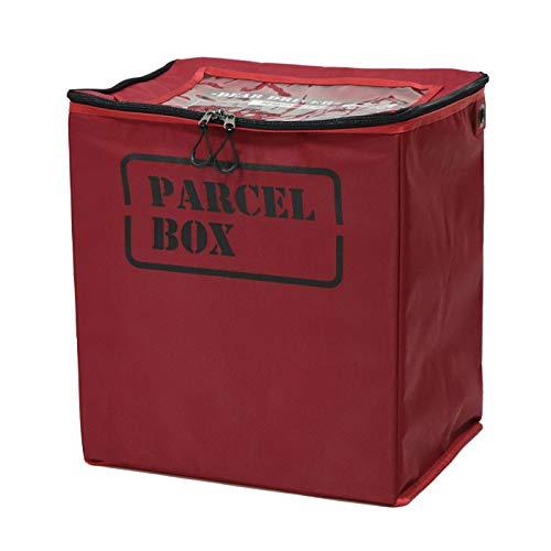 ヤマソロ 宅配ボックス 宅配BOX 折りたたみ 54L 南京錠付き PELB ペルブ 73-102 (レッド)