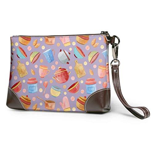 XCNGG Weiche wasserdichte Damen Clutch Lederhandtasche Zarte überlappende Geschirr Leder Wristlet Tasche mit Reißverschluss für Frauen Mädchen