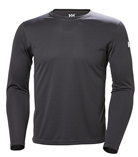 Helly Hansen HH Tech Crew Camiseta, Hombre, Gris (Gris Oscur