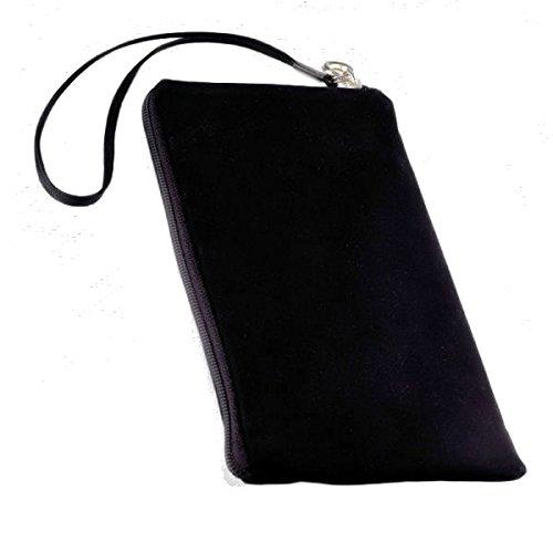 Universal Handy Tasche – Soft Touch Neopren in Schwarz mit Reißverschluss – kompatibel mit Motorola Razr Maxx - Razr XT910 – Cover Hülle Hülle