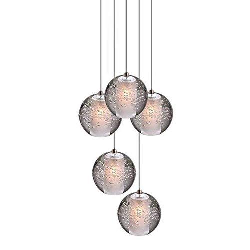 LED Colgante de luz comedor lámpara K9 cristal Bala Lámpara colgante Lámpara...