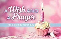 """Postcards - Happy Birthday - All Ages -""""A Wish and a Prayer for a Happy Birthday"""" (Pkg. of 25) … [並行輸入品]"""