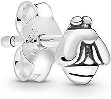 حلق صغير بريمة شكل نحلة للنساء من باندورا - فضي