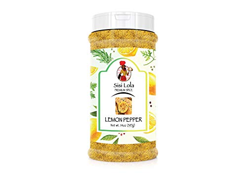 SISI Lola Spices- Lemon Pepper Spice-Flavorful free from GMO and additives- Natural Ingredients Spice- The Best Lemon Pepper Spice