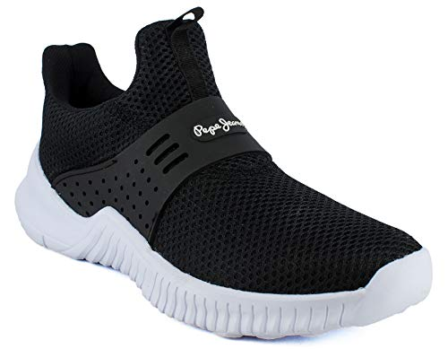 Pepe Jeans Celeste Zapatillas De Tenis para Mujer, Color Negro, Talla 26