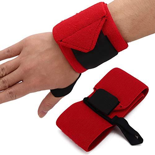 ZJchao Sport Handgelenkbandage, Handgelenkstütze Wrist Wraps Handgelenkschoner Stabilisierend & Schützend mit Klettverschluss für Sport mit Klettverschluss Gewichtheben Armschiene (rot)