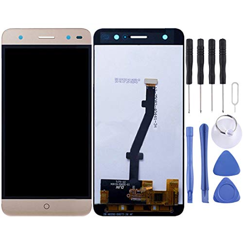 Zhouzl Repuesto de teléfono ZTE Blade V7 Lite Pantalla LCD Pantalla táctil digitalizador Asamblea Repuesto de teléfono (Color : Gold)