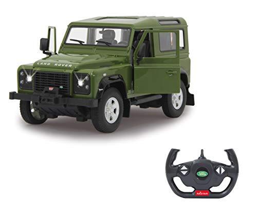 Jamara 405155-Land Rover Defender 1:14 Puertas manuales – Licencia Oficial Coche de Radio Control, Color Verde (405155)