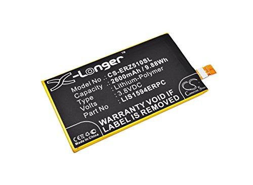 CS-ERZ510SL Batería 2600mAh Compatible con [Sony] E5803, E5823, F3211, F3212, F3213, F3215, F3216, F5321, S50, Xperia X Compact, Xperia XA Ultra, Xperia XA Ultra Dual Sim, Xperia XA Ultra LTE, Xperia