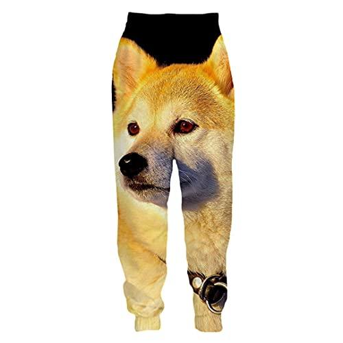 BLACKHEI Pantalones deportivos para hombre y mujer, con impresión 3D, para correr, hip pop, Kaad16447, 4XL