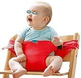 Sunrise-EU Sunrise-EU tragbarer Baby-Sitz Stuhl-Sitzgurt, Hochstuhl Booster Babysitz mit Riemen Kleinkind
