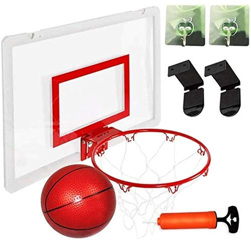 XIUYU Mini Basketballkorb Basketballkorb über der Tür for Innenmontage, hängend Punch Kunststoff, Mini Basketballkorb for Tür mit Kugel